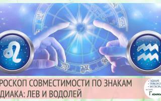 Лев и Водолей: гороскоп совместимости в любовных отношениях и браке