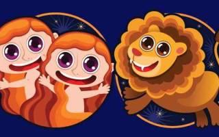 Совместимость: Близнецы (мужчина) и Лев (женщина)