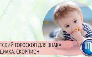 Ваш малыш – Скорпион — Детский гороскоп