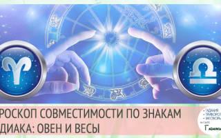 Овен и Весы: совместимость в любовных отношениях мужчин и женщин этих знаков Зодиака