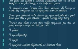 10 заповедей и 7 смертных грехов в Православии